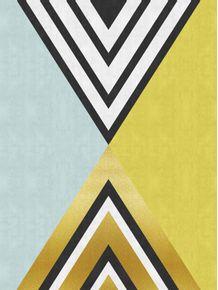 quadro-abstrato-azul-e-dourado