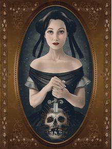 quadro-girl-and-skull