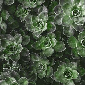 SAVAGE PLANTS II - GREEN (SQUARE)