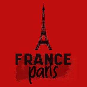 FRANCE PARIS EIFFEL VERMELHO