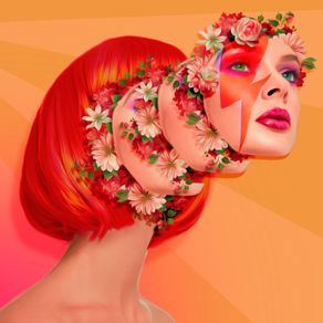 BOWIE FLOWERED GIRL